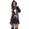 Beautiful Cow Farmer Hoodie Dress - Amaze Style™-Apparel