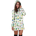 Beautiful Cactus Hoodie Dress - Amaze Style™-Apparel