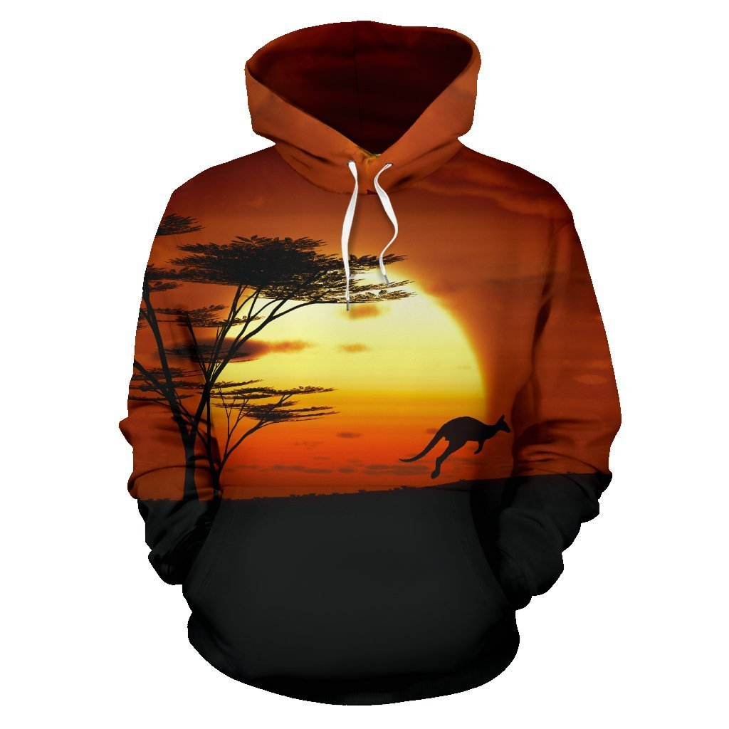 Australia All Over Hoodie Kangaroo Sunset - NNK1435 - Amaze Style™-Apparel