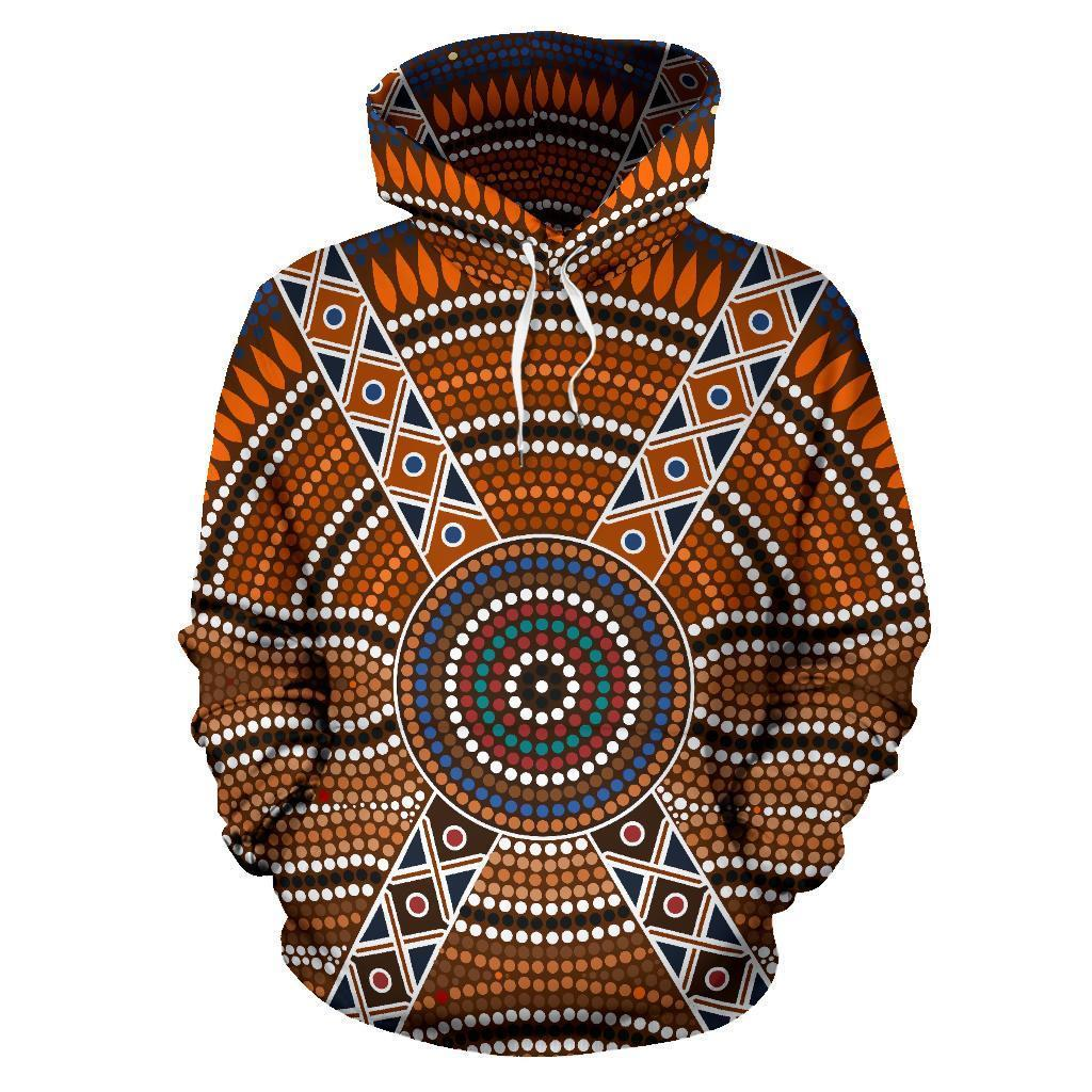 Australia All Over Hoodie Australia Pattern- NNK1481 - Amaze Style™-Apparel