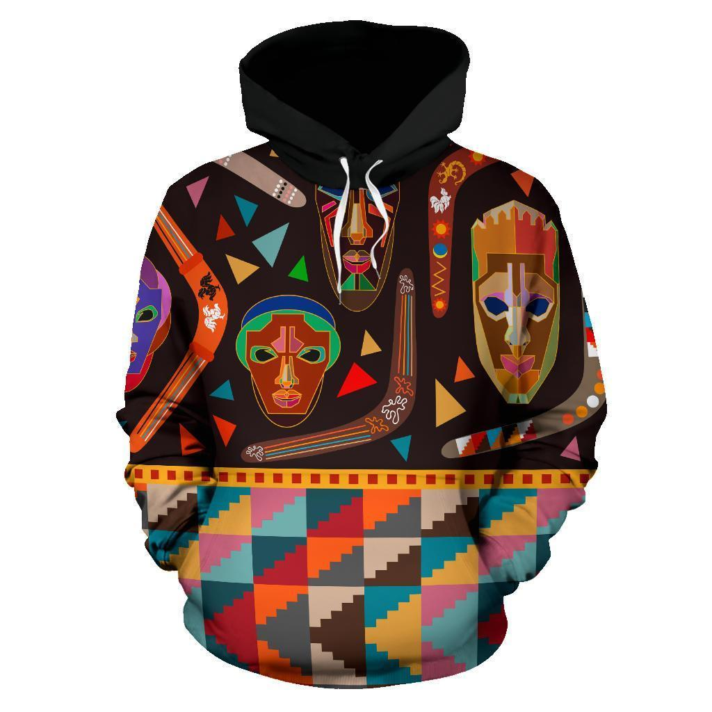 Australia Hoodie Boomerangs With Masks- NNK1471 - Amaze Style™-Apparel