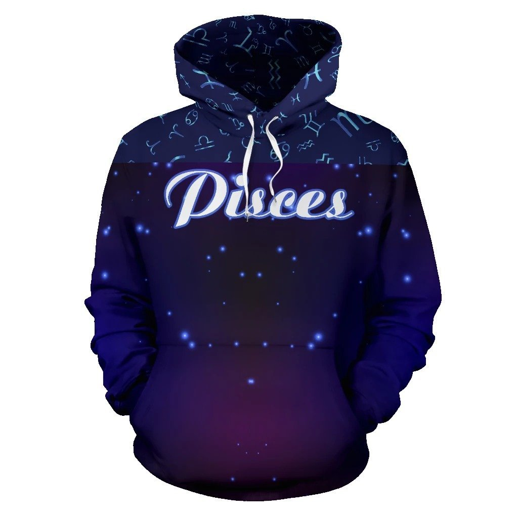 Pisces Zodiac All Over Hoodie NTH140831 - Amaze Style™-Apparel