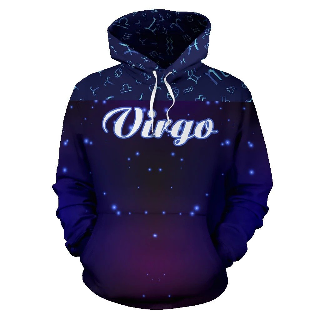 Virgo Zodiac All Over Hoodie  NTH140828 - Amaze Style™-Apparel