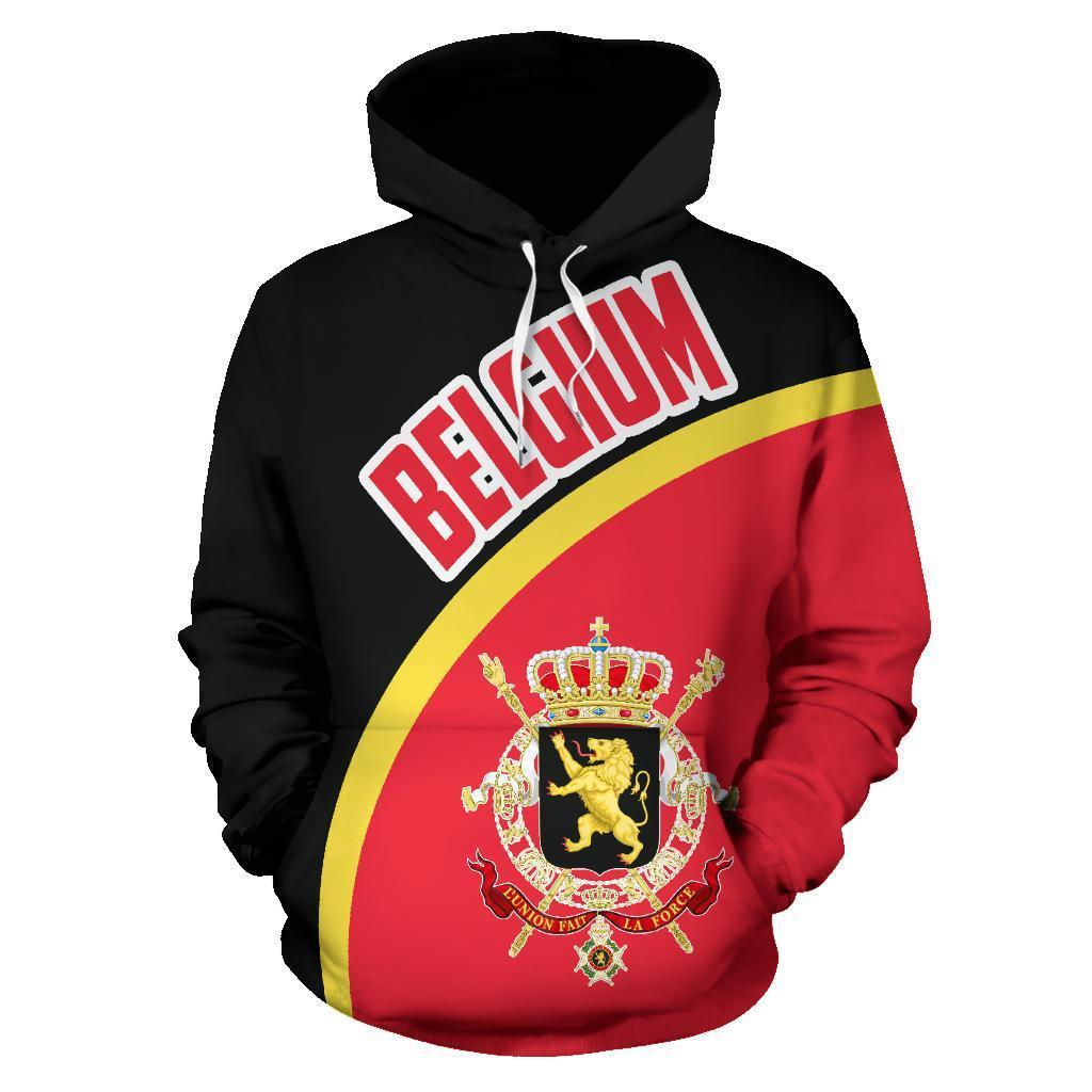 Belgium Hoodie Wave Flag Color TH90 - Amaze Style™-Apparel