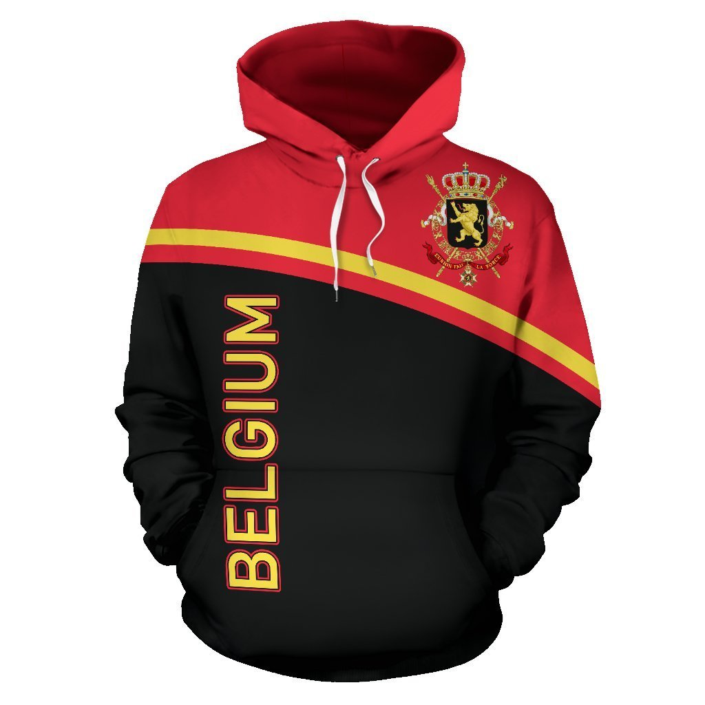 Belgium All Over Hoodie - Curve Version - BN04 - Amaze Style™-Apparel