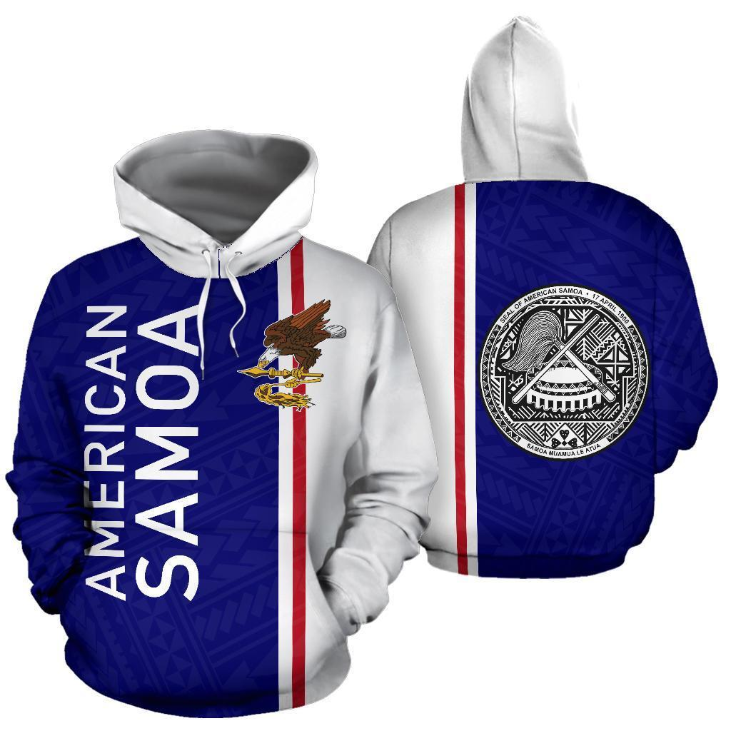 American Samoa All Over Hoodie - Straight Version - PL - Amaze Style™