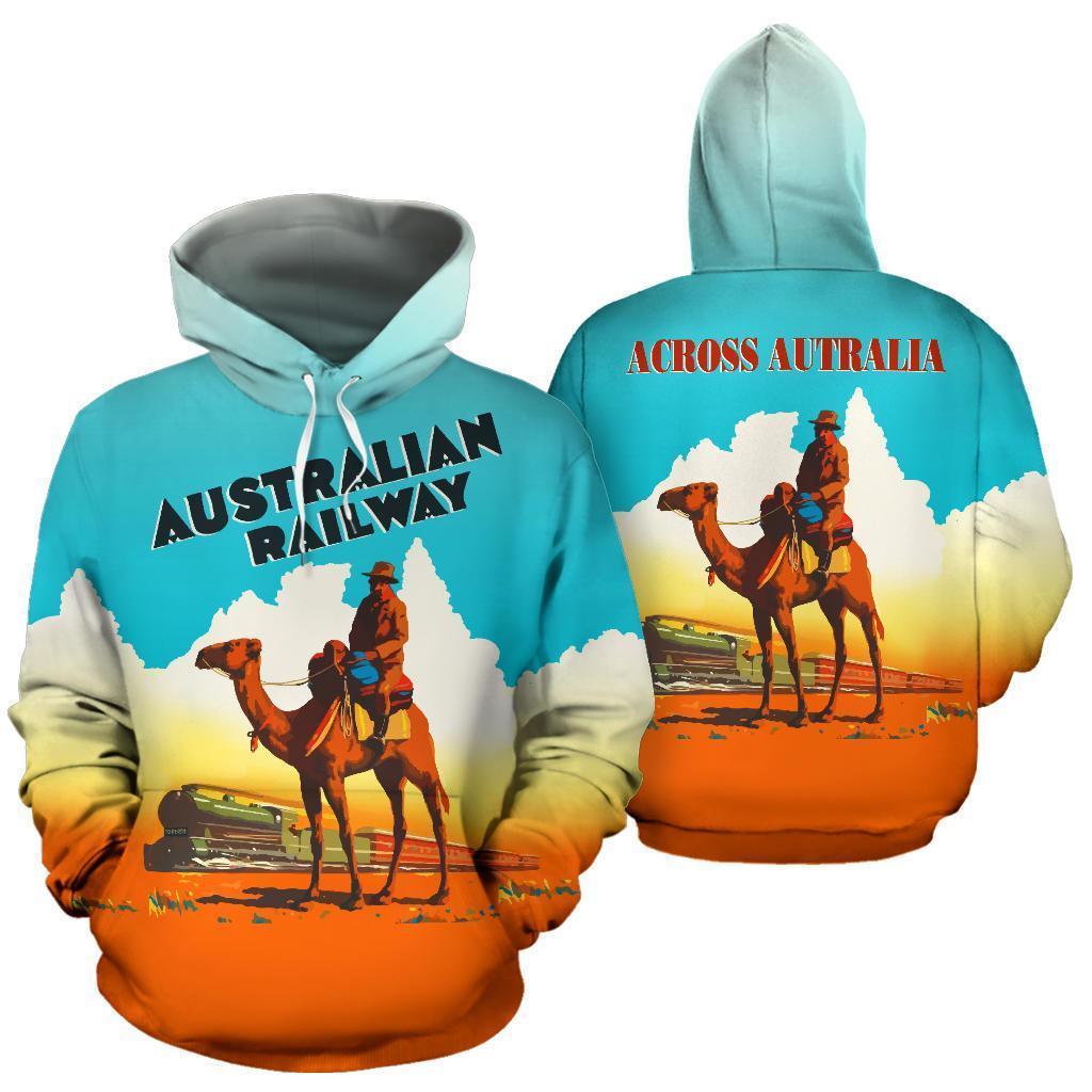 Australian Railway All Over Print Hoodie - NNK1431 - Amaze Style™-Apparel