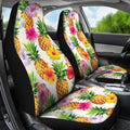Cool Pineapple And Hibiscus Car Seat Covers - AH - K5 - Amaze Style™-CAR SEAT COVERS