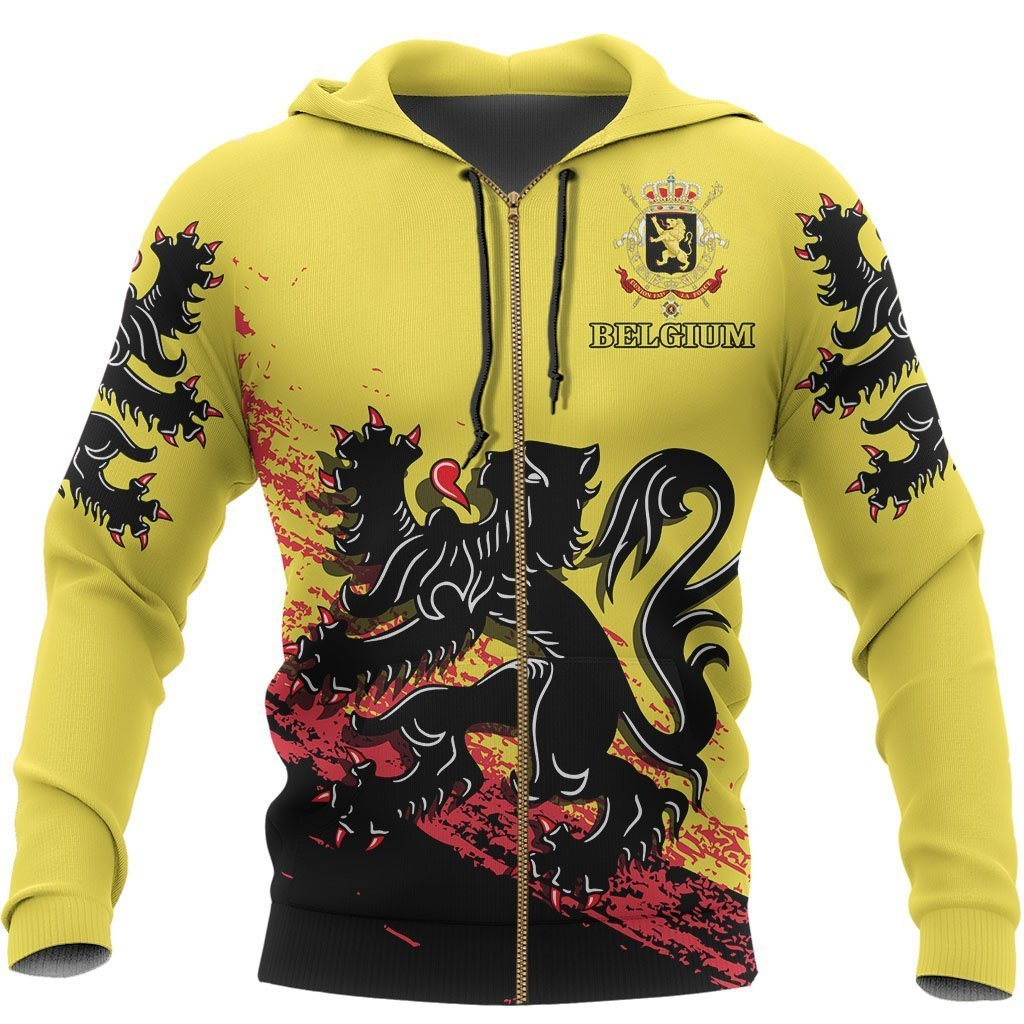 Belgium - Flag of Flanders Special Hoodie A7 - Amaze Style™-Apparel
