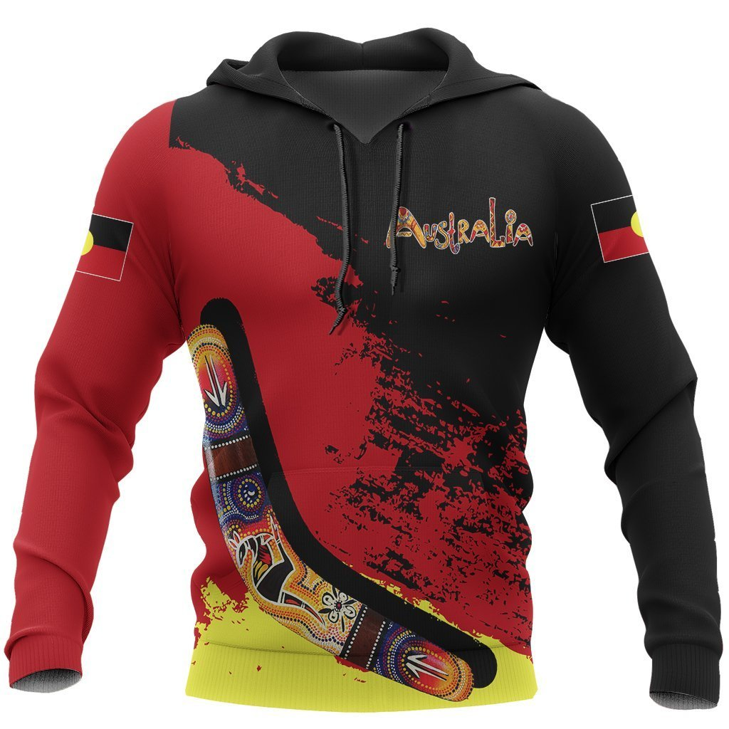 Australia Hoodie Red Black Animals Pattern NNK1463 - Amaze Style™