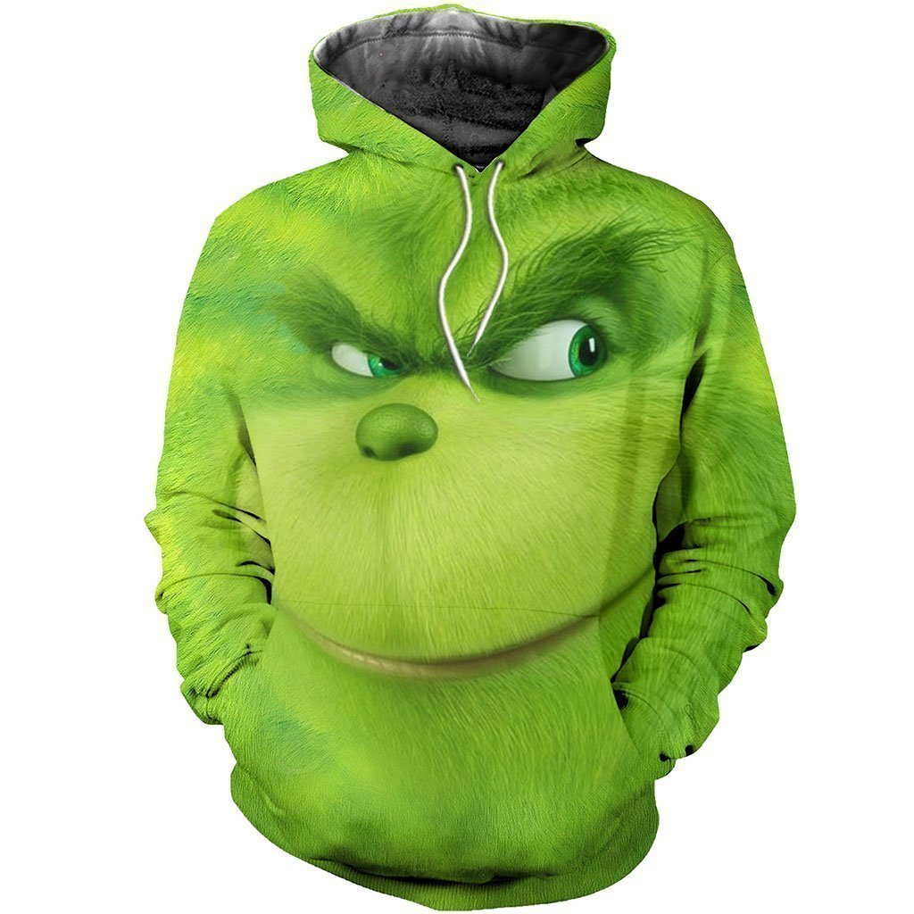 3D ALL OVER PRINTED DIRTY SMILING GRINCH FACE - Amaze Style™-Apparel