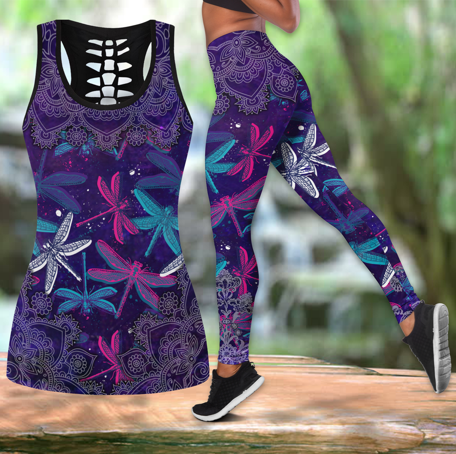 Beautiful Dragonfly Combo Tank + Legging JJ300305 - Amaze Style™-Apparel