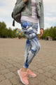 3D All Over Print Blue Drawings Mushrooms Legging - Amaze Style™-Apparel