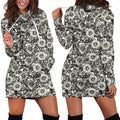 All Over Printing Black sunflowers Hoodie Dress - Amaze Style™-Apparel