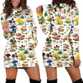 All Over Printing Many Mushroom Hoodie Dress - Amaze Style™