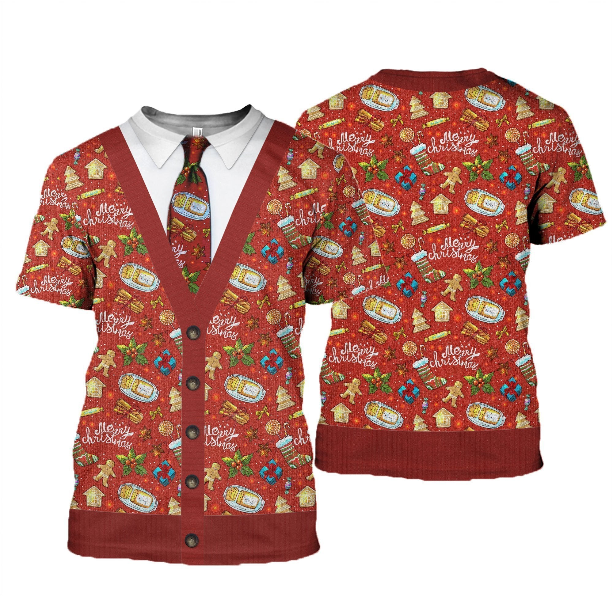3D All Over Printed Ugly Merry Christmas Shirts and Shorts - Amaze Style™