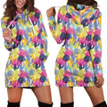 All Over Printing Cactus Color Hoodie Dress - Amaze Style™
