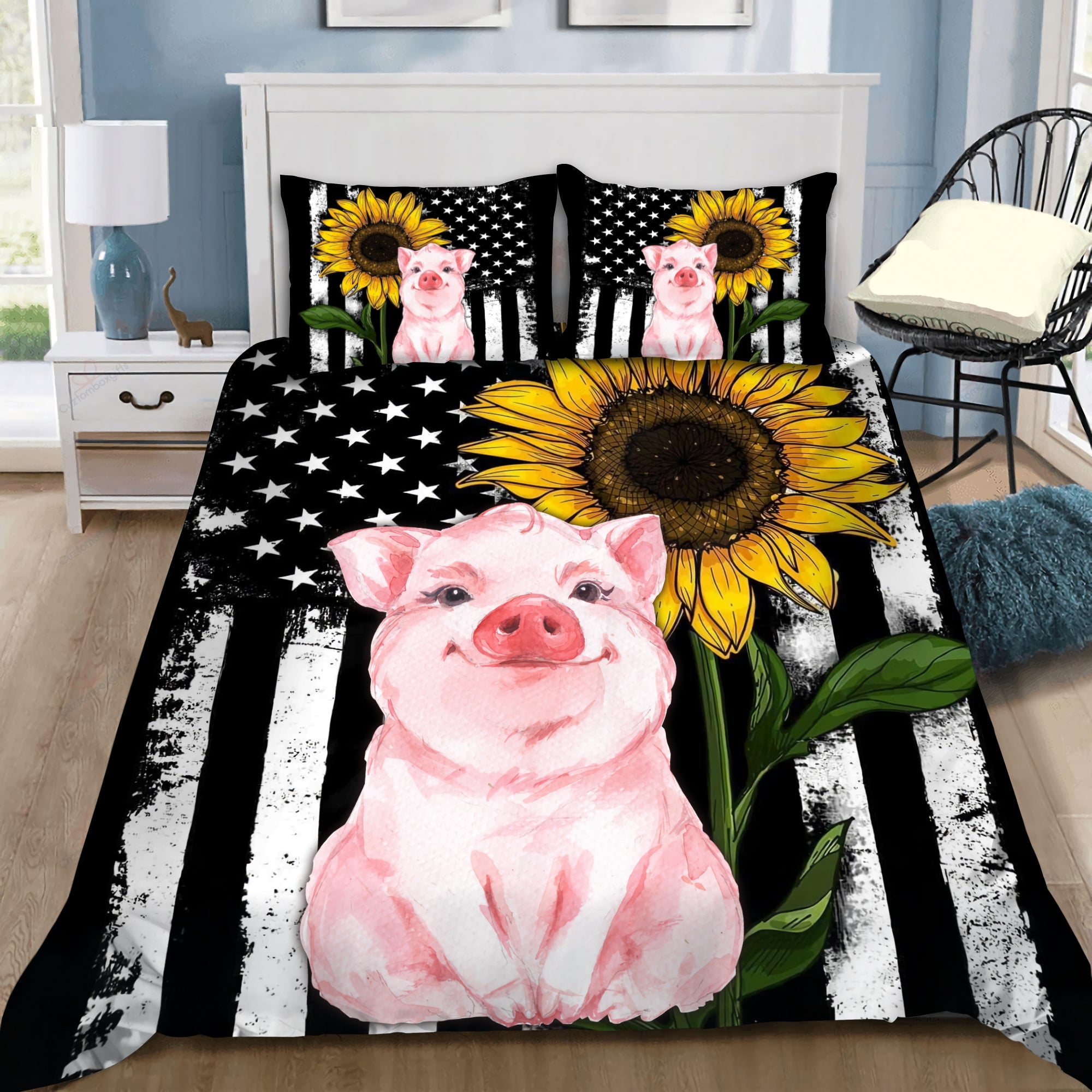 Lovely Pig Bedding Set HAC110706 - Amaze Style™-Quilt