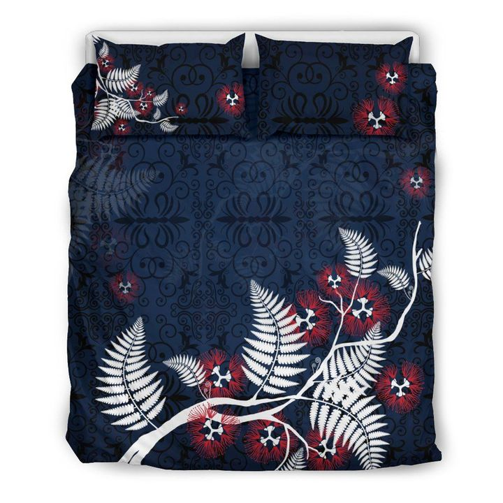 Pohutukawa New Zealand Bedding Set Navy MP13072011 - Amaze Style™-Bedding