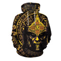 3D All Over Aztec Warrior Mexican Hoodie Yellow - Amaze Style™