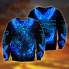 Royal Blue Phoenix Tattoo 3D All Over Printed Sweathirt by SUN AM250502 - Amaze Style™-Apparel