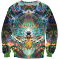 3D All Over Galaxy  Bumble Bee Hoodie - Amaze Style™-Apparel