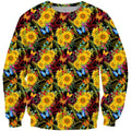 All Over Printing Beautiful Sunflower Hoodie - Amaze Style™-Apparel