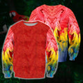 Beautifull Parrot 3D All Over Printed Shirts - Amaze Style™-Apparel