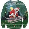 3D All Over Print Green Santa DJ Shirts - Amaze Style™-Apparel