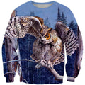 3D All Over Print Snowy Owl Shirts - Amaze Style™