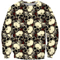 3D AOP The Skull Rose Red Shirts - Amaze Style™-Apparel