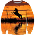 3D All Over Print Horse Sunset Shirts - Amaze Style™-Apparel