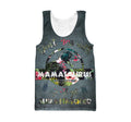 3D All Over Print Loved Mamasaurus Hoodie - Amaze Style™-Apparel