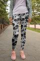 3D All Over Print Black Skull Legging - Amaze Style™-Apparel