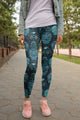3D All Over Print Blue Skull Legging - Amaze Style™-Apparel