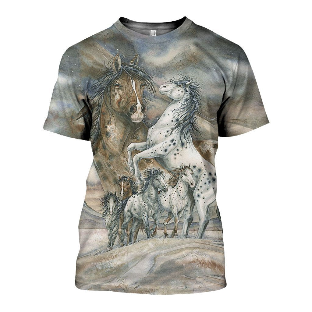 3D All Over Printed Beautiful Horse Racing Art - Amaze Style™-Apparel