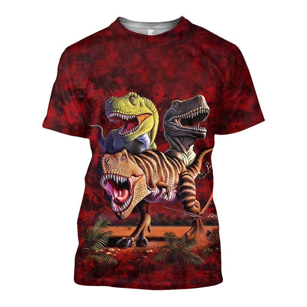 3D All Over Printed T-Rex Collage Shirts and Shorts - Amaze Style™-Apparel
