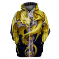 3D AOP Yellow Dragon Shirt - Amaze Style™-Apparel