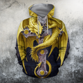 3D AOP Yellow Dragon Shirt - Amaze Style™