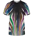 3D All Over Print Colourful Zebra Shirt - Amaze Style™-Apparel