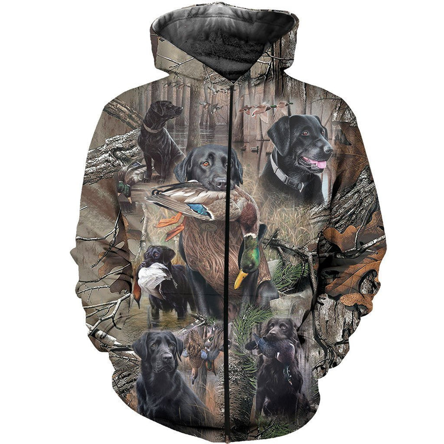 3D All Over Printed Labrador Retriever Hunting Dog Camo Art - Amaze Style™-Apparel