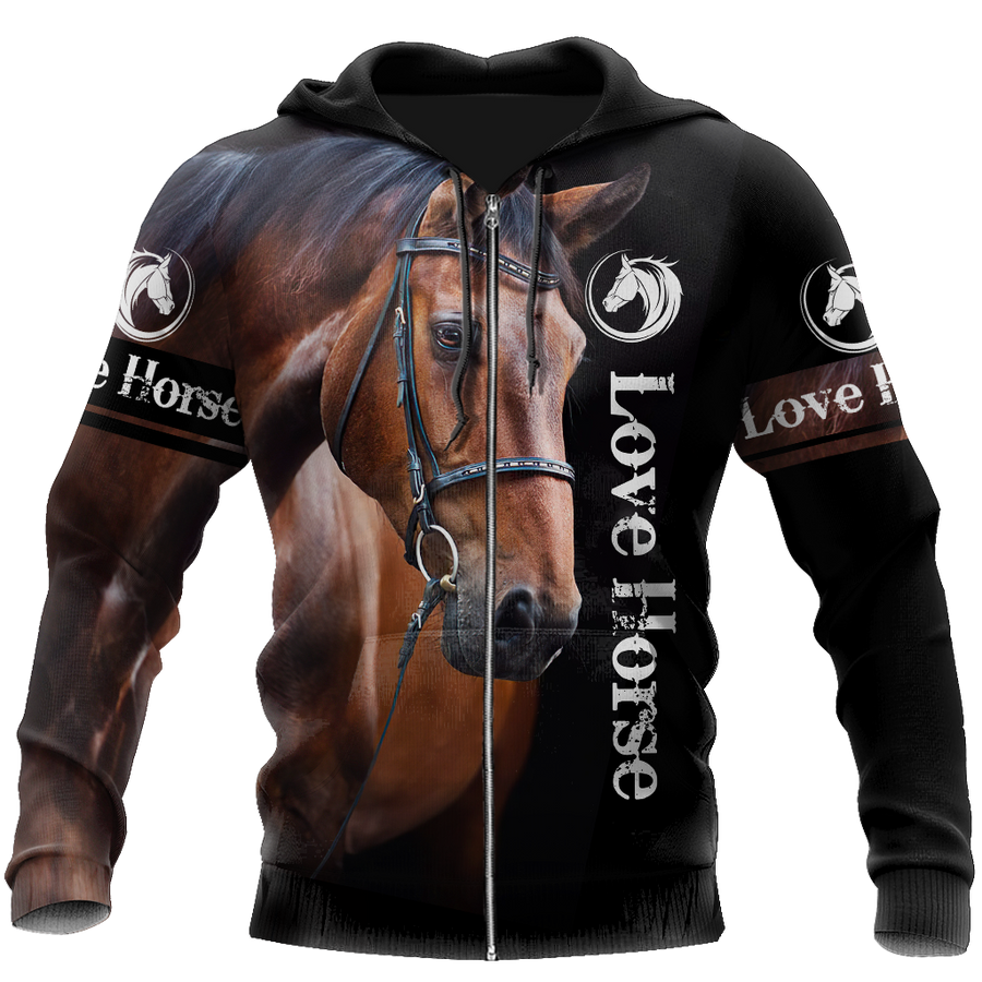 Love Horse 3D All Over Printed Shirts For Men And Women TR2005204 - Amaze Style™-Apparel