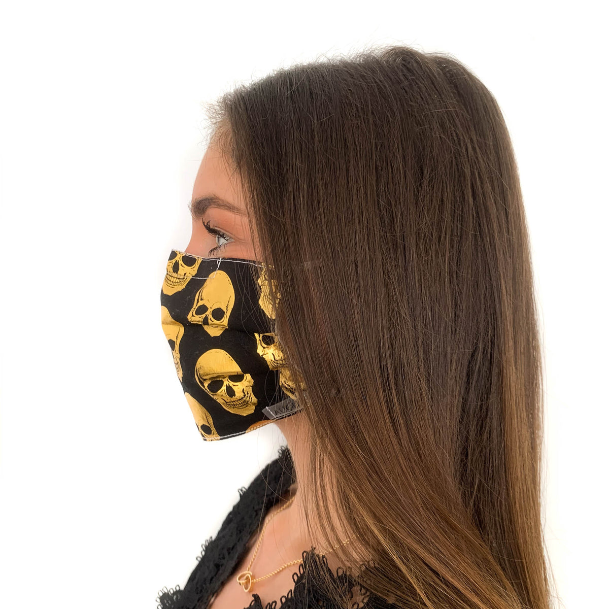 Protective Mask - Gold Skull