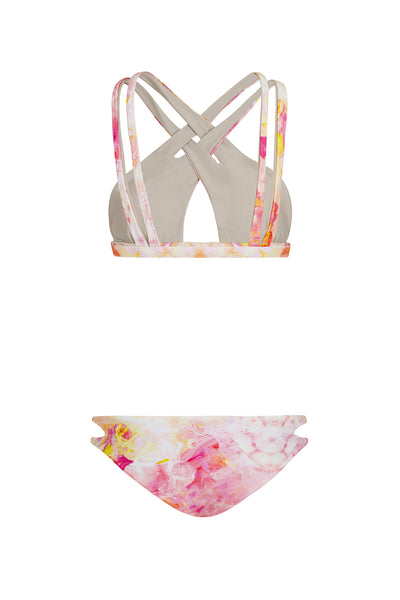 """Heidi"" Cross Over Reversible Bikini [Sahara Sunset / Sand Dune]"