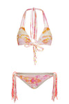 """Isabella"" Tie Up Reversible Bikini [Sahara Sunset / Sahara Sunset]"