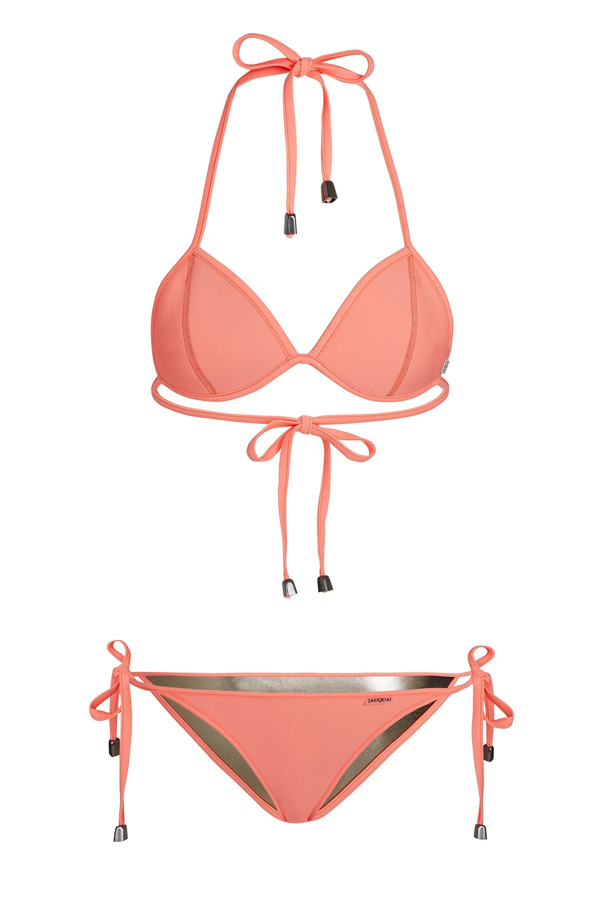 """Candice"" Triangle Reversible Bikini [Nammos Nights / Puerto Rico Peach]"
