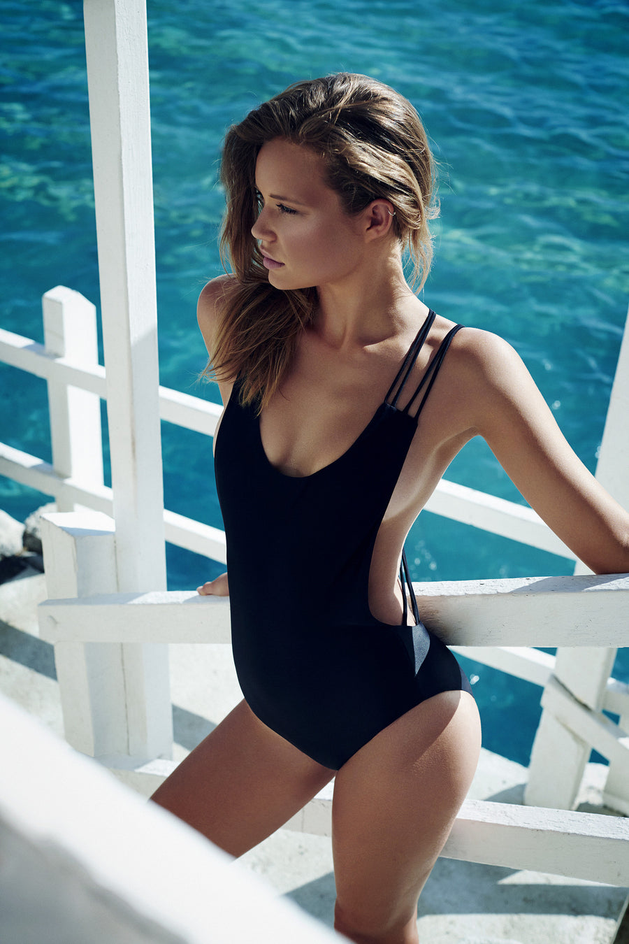 """Elle"" One Piece [Berlin Black / Canadian Khaki]"