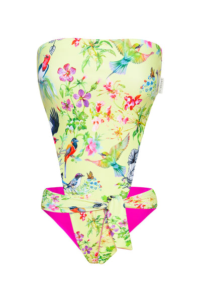 """Madeline"" 1 PC in [Yellow Birds / Fuxia]"