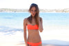 "WAREHOUSE SALE - ""Cara"" Bandeau Reversible Bikini [Oklahoma Orange / Grey Goose]"