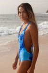 """Elle"" One Piece [Ocean Rush / Indian Summer White]"